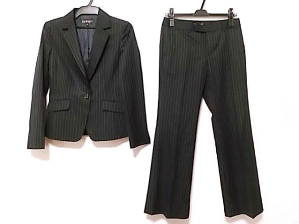 INDIVI(インディビ) レディースパンツスーツ サイズ38 M レディース 黒×グレー