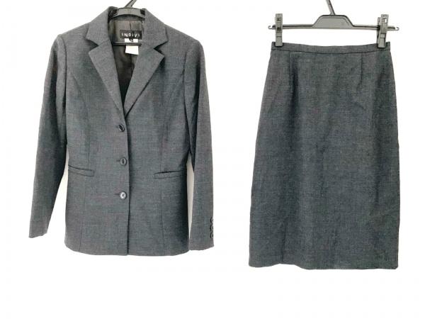 INDIVI(インディビ) スカートスーツ サイズ36 S レディース美品  ダークグレー