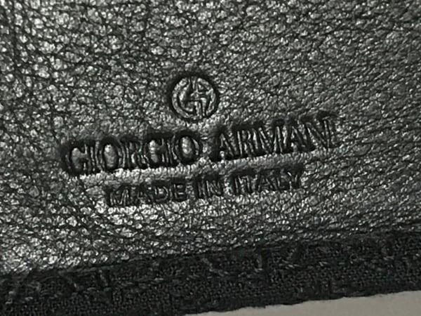 GIORGIOARMANI(ジョルジオアルマーニ) 札入れ 黒 ジャガード