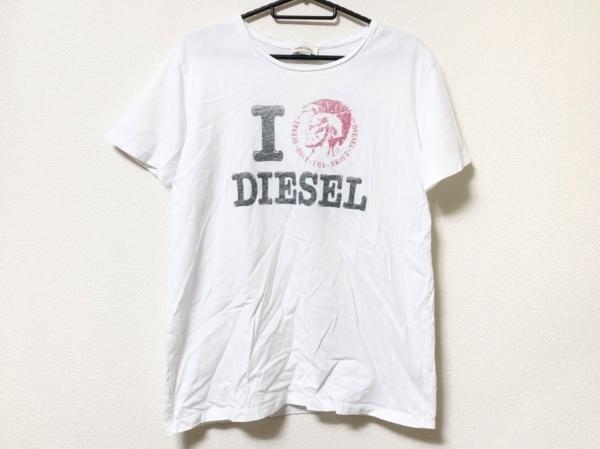 DIESEL(ディーゼル) 半袖Tシャツ サイズL レディース 白