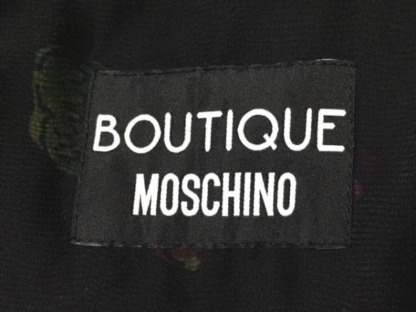 MOSCHINO(モスキーノ) ワンピース サイズ38 S レディース美品  黒×マルチ