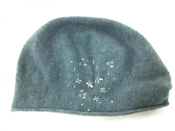 ANTEPRIMA(アンテプリマ) ニット帽 ダークグリーン ラインストーン