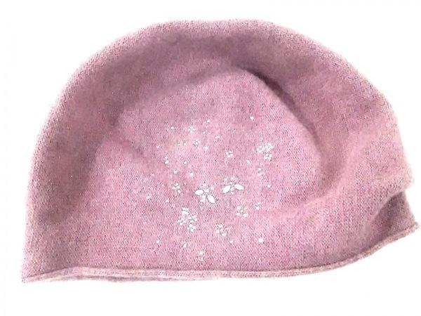 アンテプリマ ニット帽 パープル ラインストーン ウール×ポリエステル×ナイロン