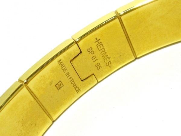 HERMES(エルメス) バングル シャル二エール 金属素材 白×ゴールド 4