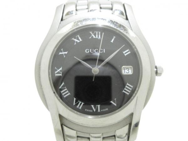 GUCCI(グッチ) 腕時計美品  Gクラス 5500M メンズ 黒