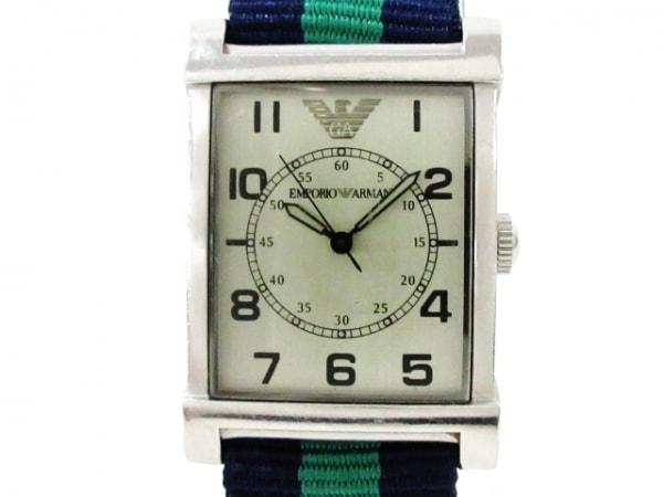 EMPORIOARMANI(アルマーニ) 腕時計 AR-0216 メンズ ライトグリーン