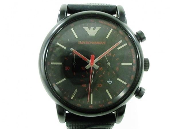 EMPORIOARMANI(アルマーニ) 腕時計美品  ルイージ AR-11024 メンズ 黒