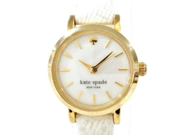 ケイト 腕時計美品  タイニーメトロ 0422/1YRU0422 レディース シェルホワイト