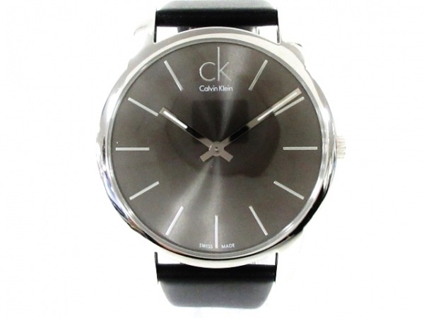 CalvinKlein(カルバンクライン) 腕時計美品  シティ K2G211 メンズ ダークブラウン