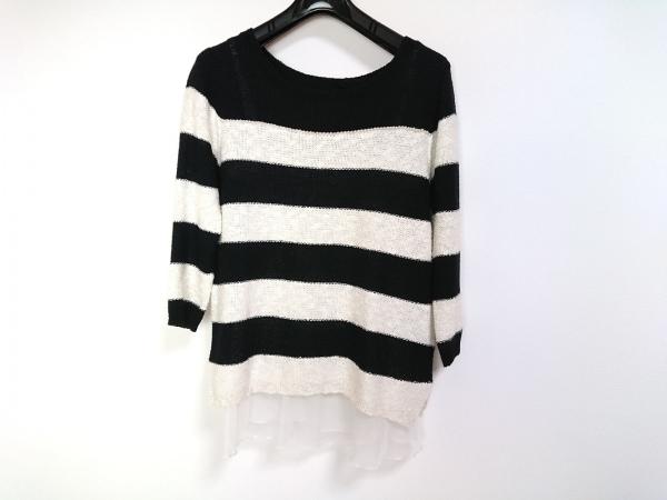 ジャスグリッティー 長袖セーター サイズ2 M レディース美品  黒×アイボリー