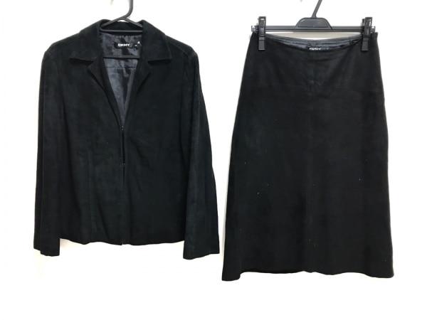 DKNY(ダナキャラン) スカートセットアップ レディース 黒 レザー