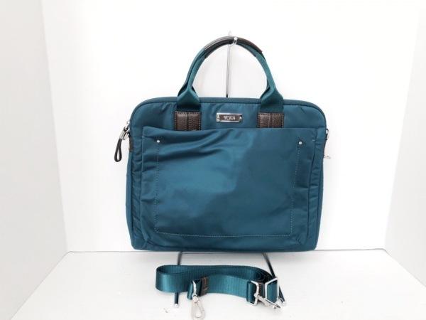 TUMI(トゥミ) ビジネスバッグ ブルーグリーン×ダークブラウン PCケース/キャリーオン