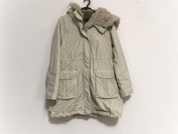 INED(イネド) コート サイズ9 M レディース美品  アイボリー 冬物/ファー