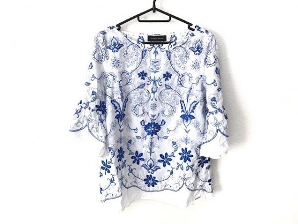 イヴァンカトランプ チュニック サイズ S S レディース美品  白×ブルー 刺繍