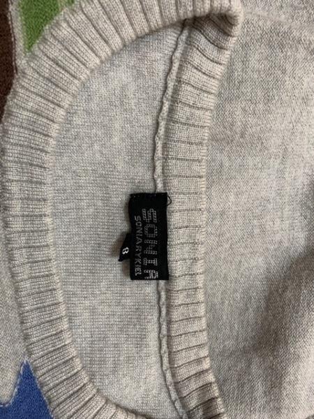 ソニアリキエル 長袖セーター サイズ48 XL レディース ライトグレー×マルチ 迷彩柄