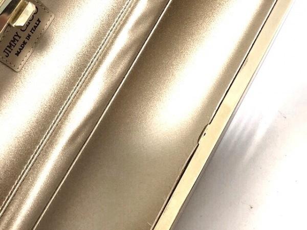 JIMMY CHOO(ジミーチュウ) クラッチバッグ美品  - ピンク×パープル×ゴールド