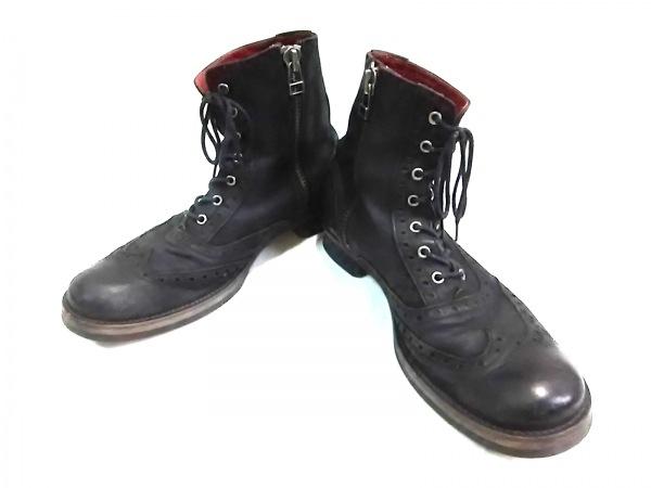 NOID(ノーアイディー) ブーツ 41 メンズ 黒 レザー