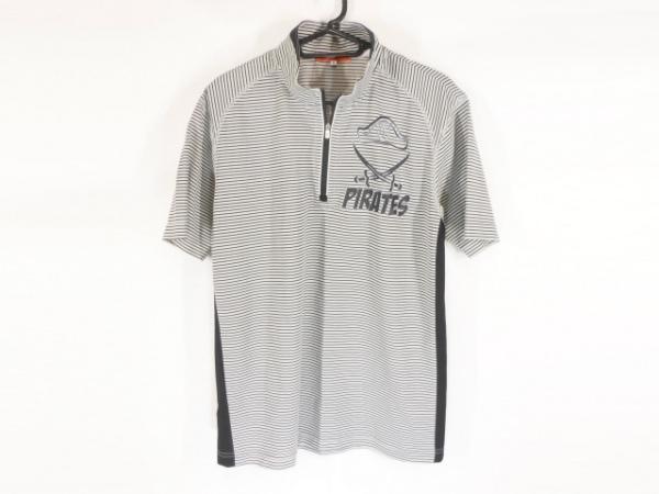 カステルバジャックスポーツ 半袖カットソー サイズ3 L メンズ ライトグレー×黒