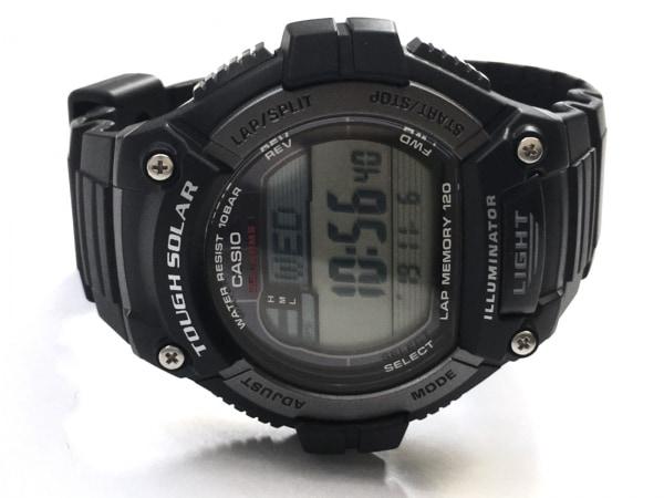 カシオ 腕時計美品  チープカシオ チプカシ ランニングウォッチ W-S220 メンズ グレー