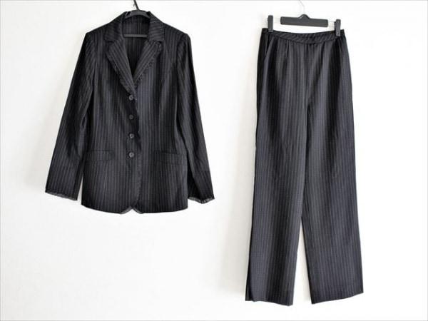 レリアン レディースパンツスーツ サイズ11 M レディース美品  黒×白×ブラウン