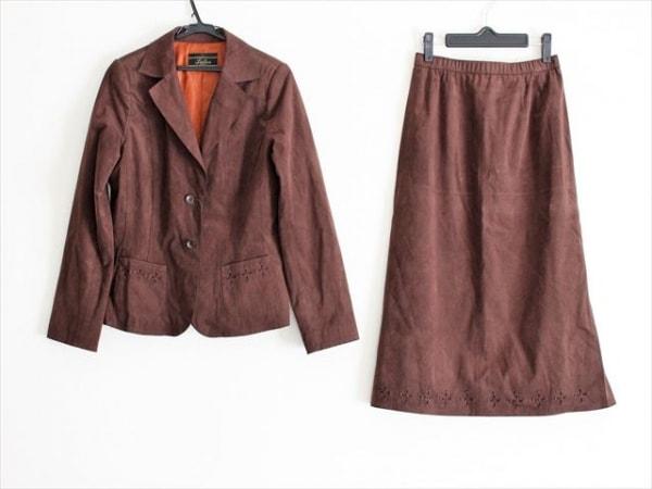 Leilian(レリアン) スカートスーツ サイズ11 M レディース ダークブラウン
