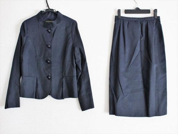Leilian(レリアン) スカートスーツ サイズ13 L レディース美品  ネイビー×黒