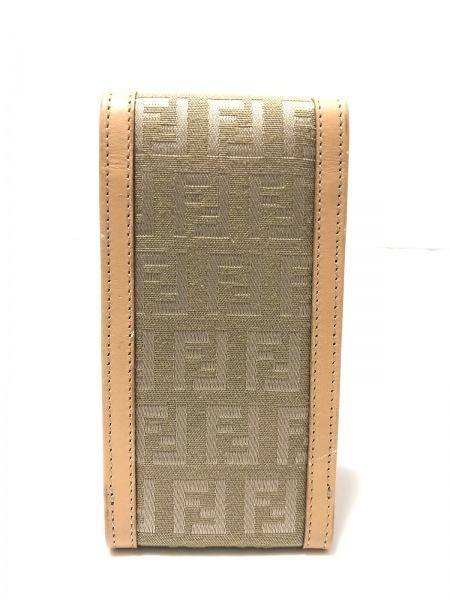 FENDI(フェンディ) シガレットケース美品  ズッキーノ柄 7AR012 カーキ×ベージュ