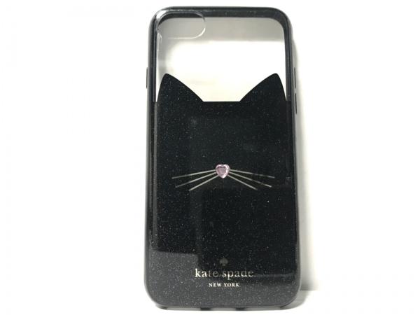 Kate spade(ケイトスペード) 携帯電話ケース 黒×クリア×シルバー ポリカーボネット