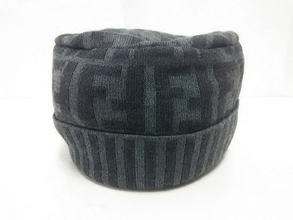 FENDI(フェンディ) ニット帽 - グレー×ダークグレー ウール