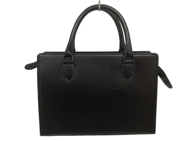 JeanPaulGAULTIER(ゴルチエ) ハンドバッグ 黒 型押し加工 レザー