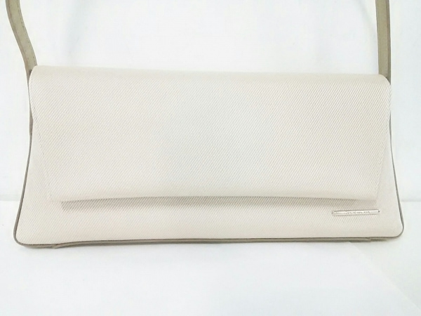 GIVENCHY(ジバンシー) ハンドバッグ美品  - ベージュ×ゴールド ナイロン×レザー
