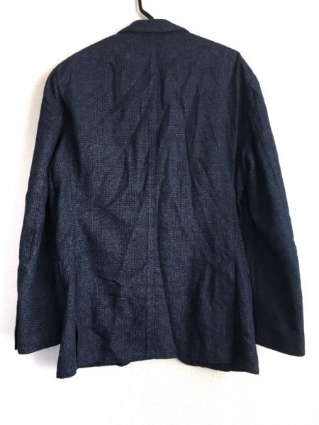 ラルディーニ ジャケット サイズ52 メンズ - - ネイビー×黒 長袖/チェック柄/春/秋