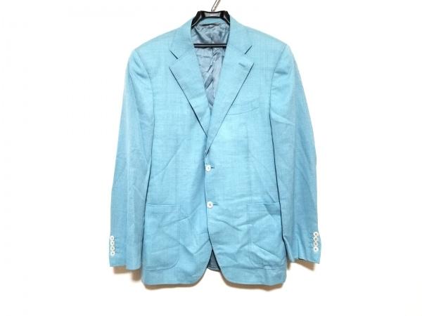 CANALI(カナーリ) ジャケット サイズ50 6 R メンズ美品  ライトブルー 肩パッド