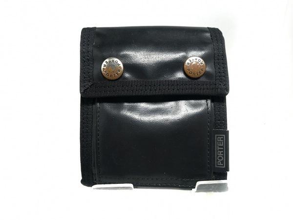 PORTER/吉田(ポーター) 3つ折り財布 - 黒 コーティングキャンバス×ナイロン