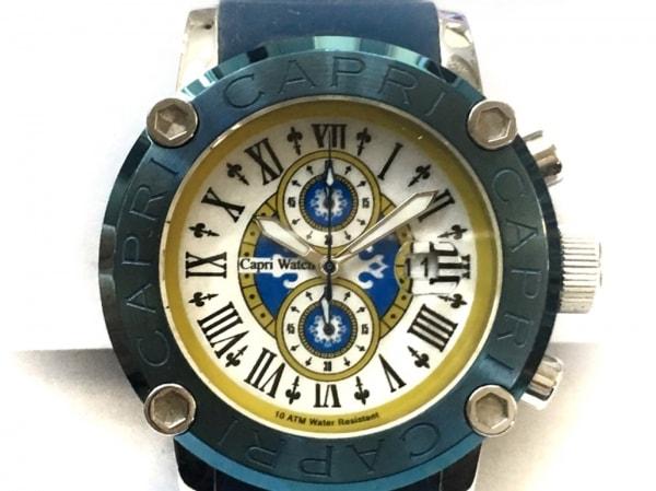 CAPRI WATCH(カプリウォッチ) 腕時計美品  316L レディース 白×黒×マルチ