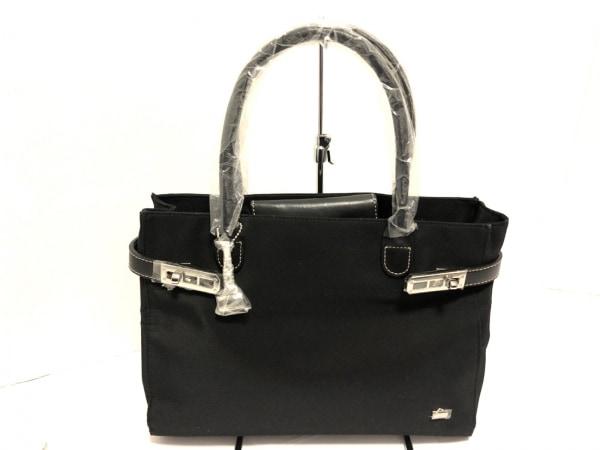 LA BAGAGERIE(ラバガジェリー) トートバッグ美品  黒 ナイロン×レザー