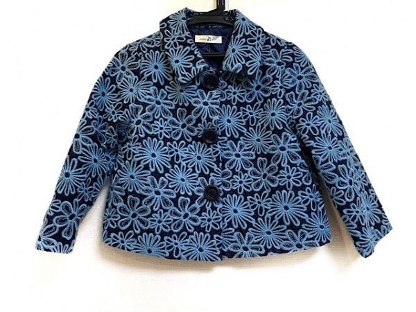 マチコジント ジャケット サイズS レディース美品  ダークネイビー×ライトブルー