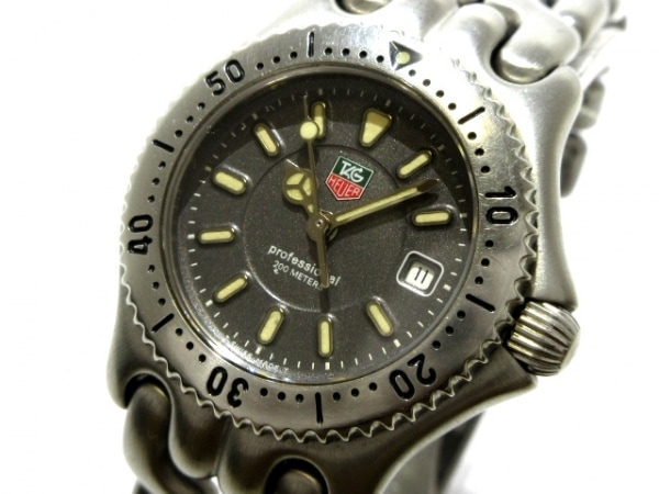 タグホイヤー 腕時計 プロフェッショナル200 WG1313-2 レディース ダークグレー