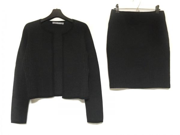 theory(セオリー) スカートスーツ サイズ38 M レディース ダークグレー×黒 千鳥格子