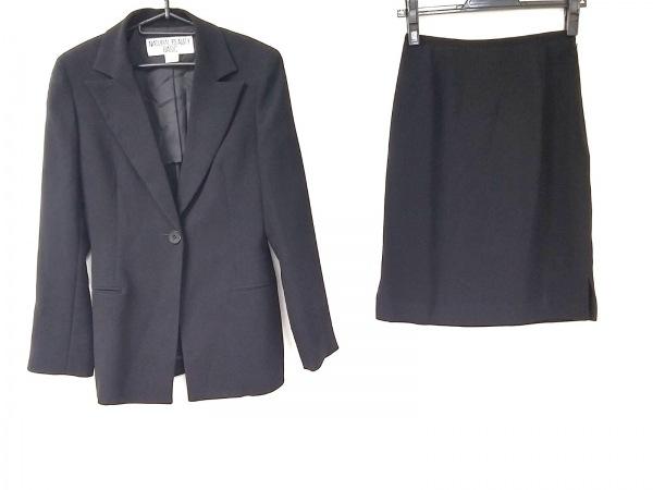 ナチュラルビューティー ベーシック スカートスーツ サイズM レディース美品  黒