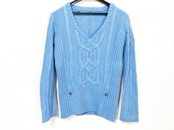 Leilian(レリアン) 長袖セーター サイズ9 M レディース ライトブルー