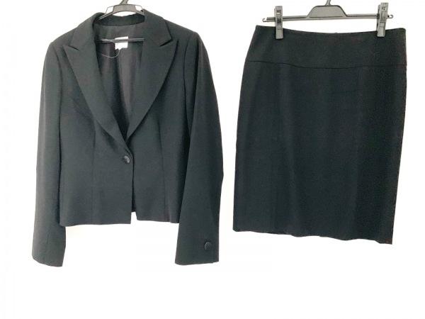 アルマーニコレッツォーニ スカートスーツ サイズ44 L レディース 黒