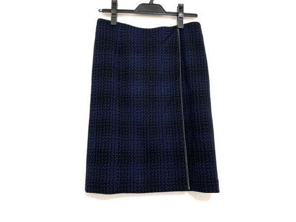 CalvinKlein(カルバンクライン) スカート サイズ4 XL レディース美品  黒×ネイビー