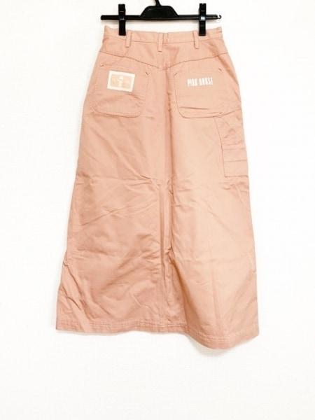 ピンクハウス ロングスカート サイズM レディース美品  ピンク×アイボリー×マルチ