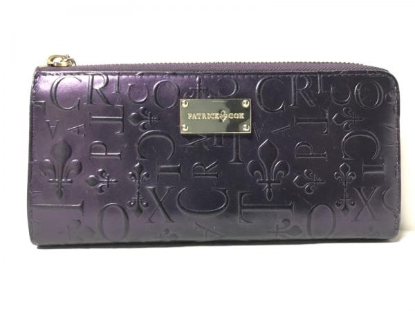 PATRICK COX(パトリックコックス) 長財布 ボルドー 型押し加工 レザー