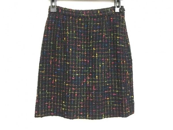 モスキーノ チープ&シック スカート サイズUSA6 M レディース美品  黒×マルチ
