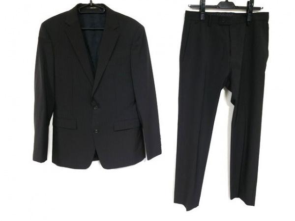 コムサメン シングルスーツ サイズ44 L メンズ ダークグレー×ライトグレー×マルチ