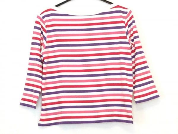 agnes b(アニエスベー) 長袖Tシャツ レディース アイボリー×レッド×マルチ ボーダー