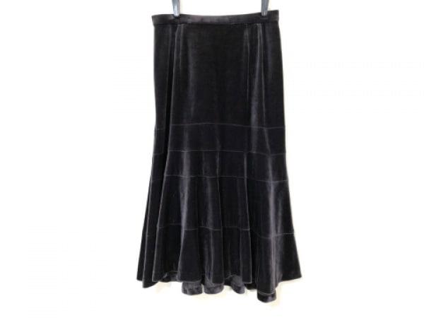 Leilian(レリアン) スカート サイズ9 M レディース ダークブラウン ベロア