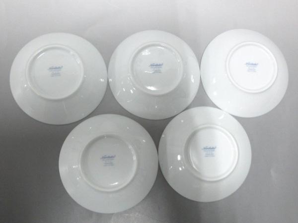 ノリタケ プレート新品同様  白×シルバー×黒 5枚セット 陶器 2